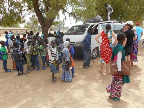 visite de l'école de M'Balakahté